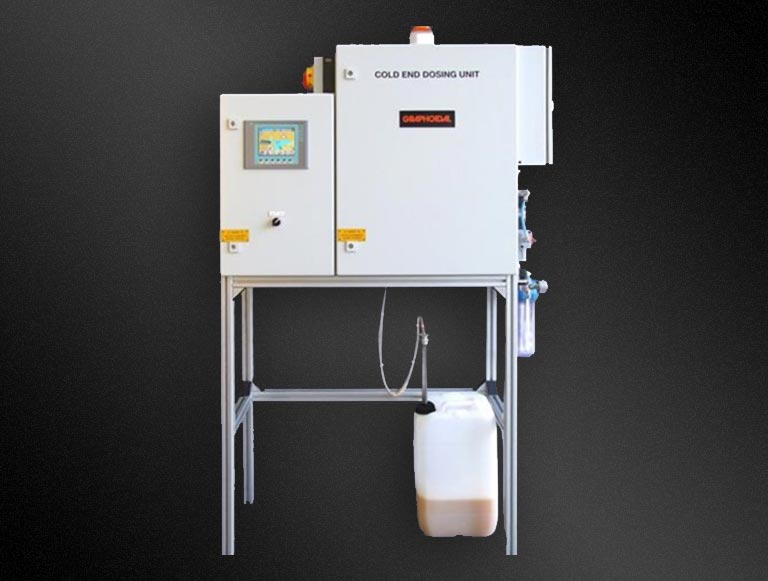 Cold end dosing systems